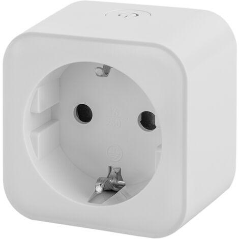 BeMatik - Enchufe inteligente 16A 3680W WiFi blanco compatible con Google Home, Alexa y IFTTT