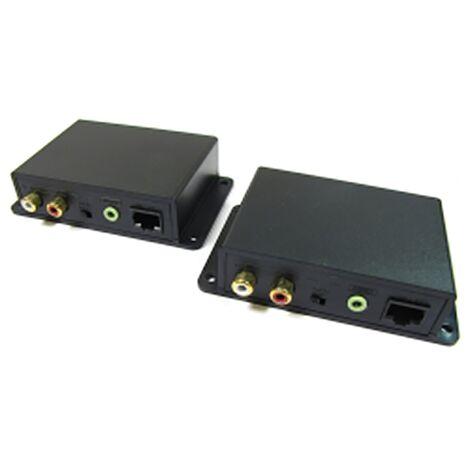 BeMatik - Extensor de audio estéreo UTP Cat.5 emisor y receptor AE02