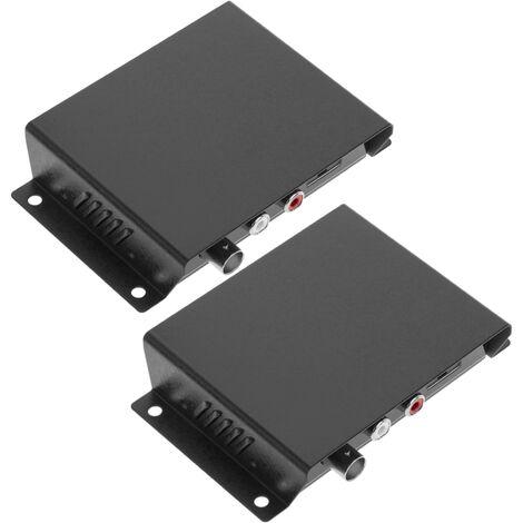 BeMatik - Extensor de audio y vídeo compuesto UTP Cat.5 emisor y receptor CE01A