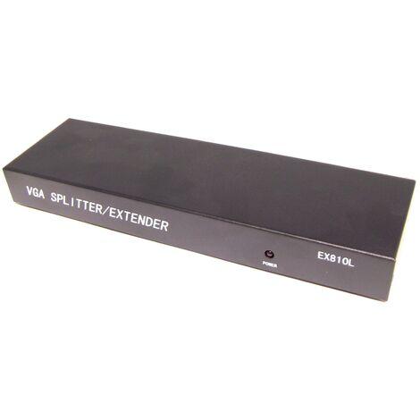 BeMatik - Extensor DYLINK de VGA y audio por UTP Cat.5 LOCAL 8 puertos
