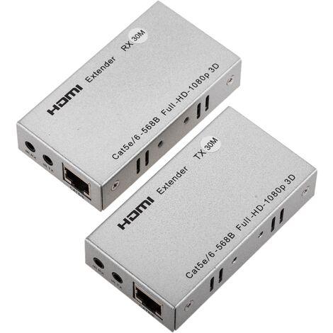 BeMatik - Extensor HDMI por cable UTP de 30m a 1080p 1xUTP 3D