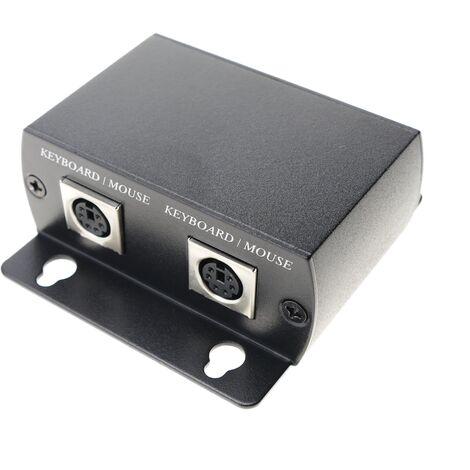 BeMatik - Extensor teclado y ratón UTP Cat.5 USB PS2 emisor y receptor KM02