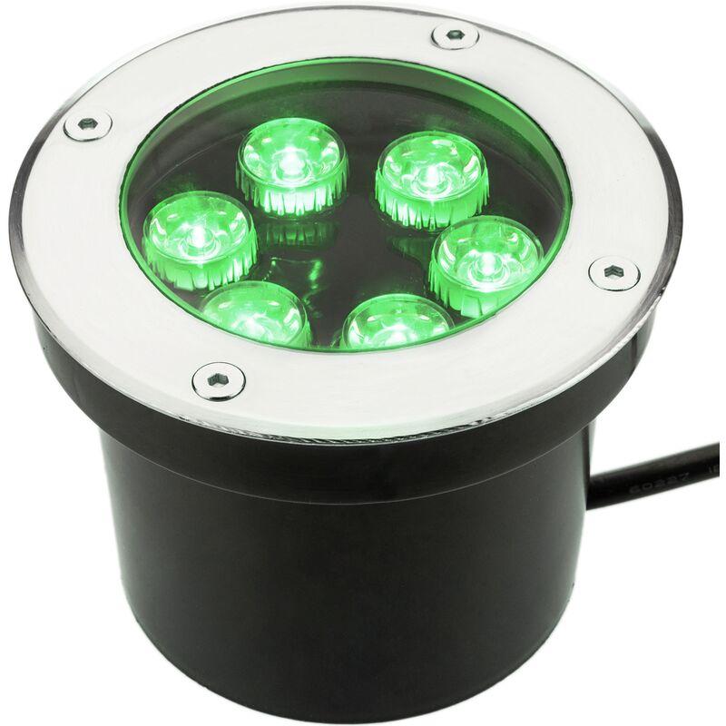 Faretto a LED 5W 100mm con luce verde - Bematik