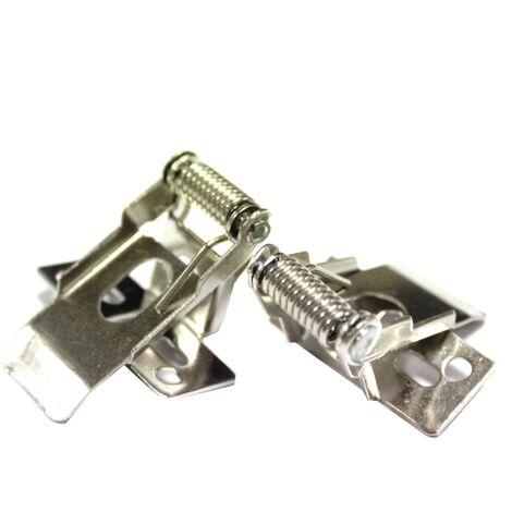 BeMatik - Fissaggio pannello del soffitto pressione del sistema a LED - 2 unità