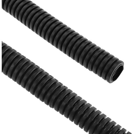 BeMatik - Flexible PVC corrugated pipe M-16 100 m Black