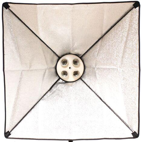 BeMatik - Foco de luz continua con softbox 60x60cm 4xE27