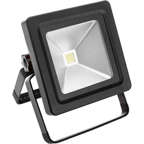 BeMatik - Foco de luz LED 10W exterior IP44 recargable 6500K luz día