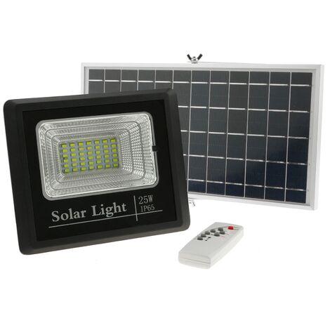 """main image of """"BeMatik - Foco de luz LED de 25W para exterior IP65 con batería recargable 5000 mAh y panel solar"""""""