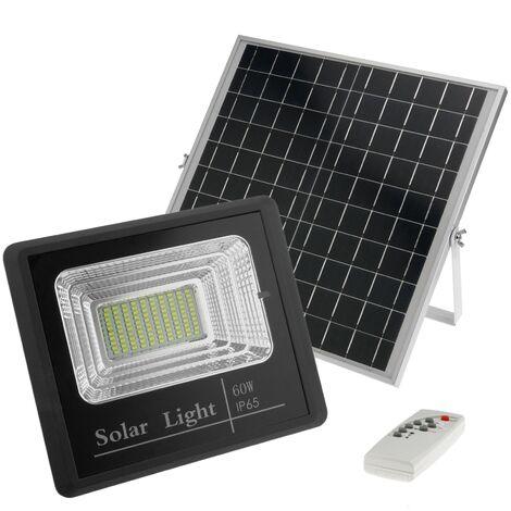 """main image of """"BeMatik - Foco de luz LED de 60W para exterior IP65 con batería recargable 20000 mAh y panel solar IP65. Solar 60W"""""""