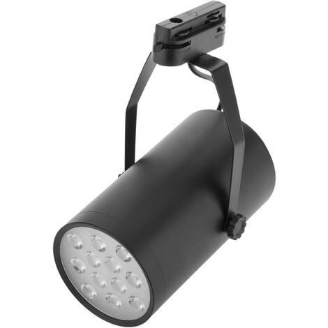 BeMatik - Foco LED de rail 12W blanco frío día 100x170mm negro