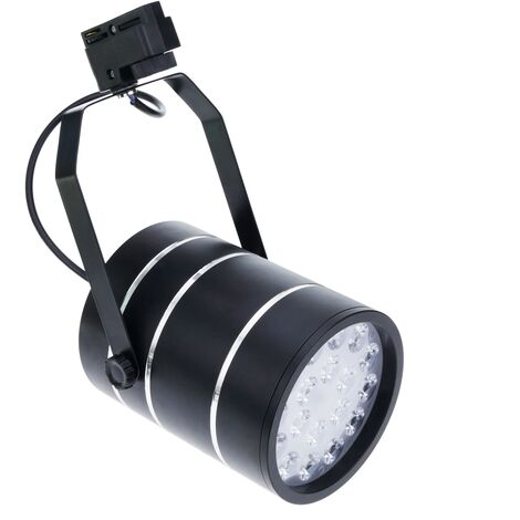 BeMatik - Foco LED de rail 18W blanco frío día 120x155mm negro