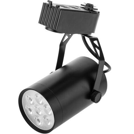 BeMatik - Foco LED de rail 7W blanco frío día 80x110mm negro