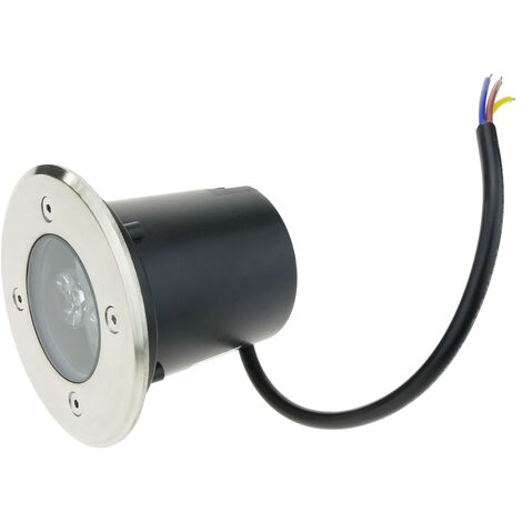 BeMatik - Foco LED de suelo de 3W 90mm. Luz de color verde