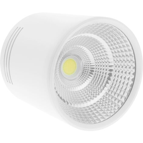 BeMatik - Foco LED de superficie Lámpara COB 12W 220VAC 3000K blanca 100mm