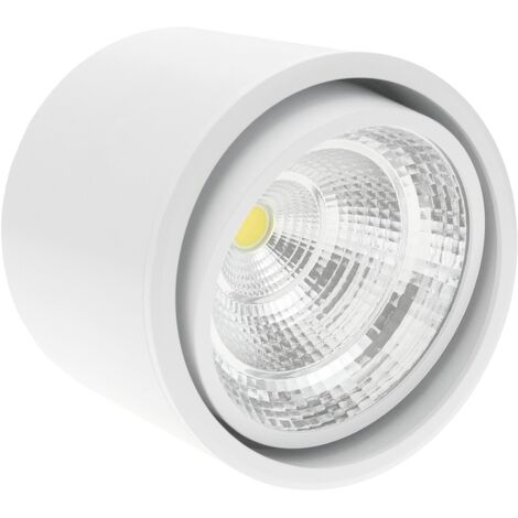 BeMatik - Foco LED de superficie Lámpara COB 12W 220VAC 6000K blanca 115mm