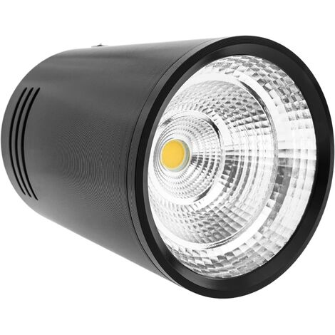 BeMatik - Foco LED de superficie Lámpara COB 7W 220VAC 3000K negra 75mm
