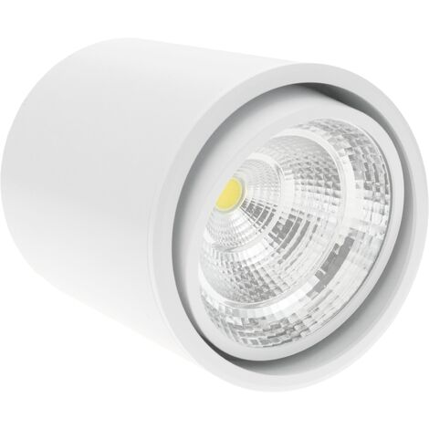 BeMatik - Foco LED de superficie Lámpara COB 7W 220VAC 6000K blanca 90mm