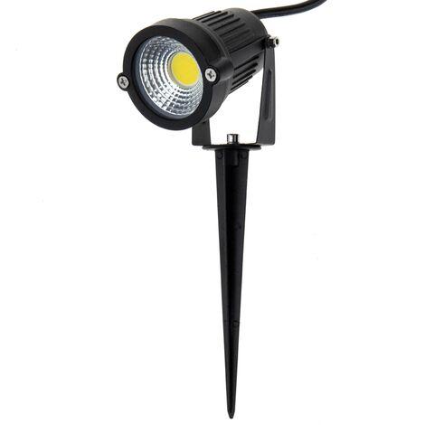 BeMatik - Foco LED IP65 5W 425LM con estaca para exterior