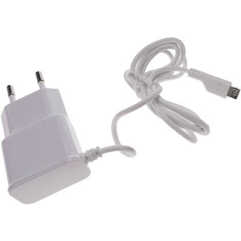 BeMatik - Fuente de alimentación 220VAC a Micro USB macho 5VDC a 1A