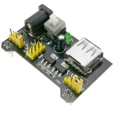 BeMatik - Fuente de alimentación de 3.3V-5V para circuito impreso MB102