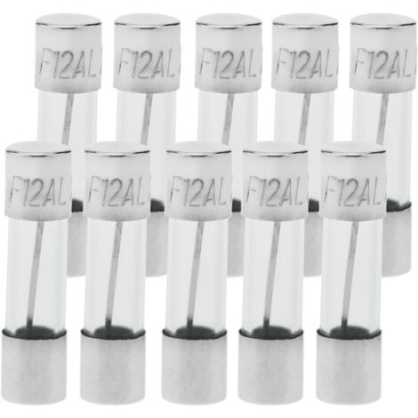 BeMatik - Fusible verre 12A 5x20mm 10 unités