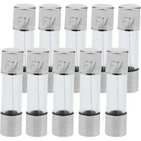 BeMatik - Fusible verre 1A 5x20mm 10 unités