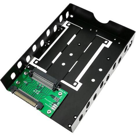 """BeMatik - Hard disc adapter 2.5 """"to 3.5"""" type U.2 NVMe to U.2 SAS SATA SSD HDD"""