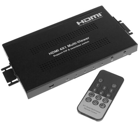 BeMatik - HDMI 4x1 video switch with simultaneous multi viewer