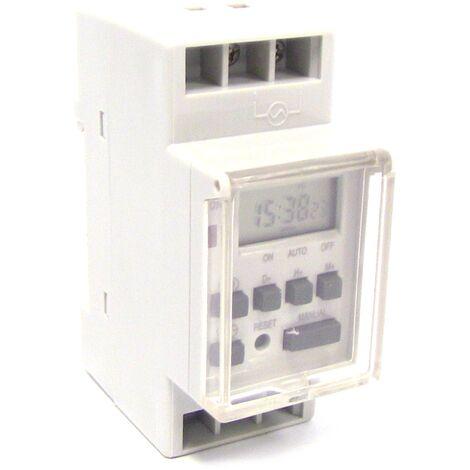 BeMatik - Hebdomadaire électrique numérique Type de programmateur sur rail DIN