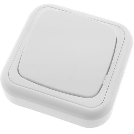 BeMatik - Interrupteur va-et-vient avec plaque de finition 80x80mm blanc