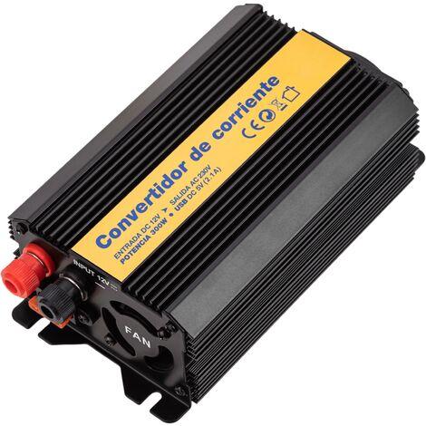 BeMatik - Inversor eléctrico onda modificada 12 VDC a 220 VAC de 300W y USB
