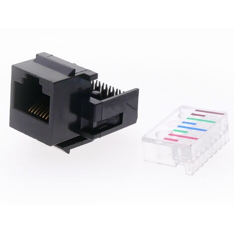 BeMatik - Keystone RJ45 female to TB110 Cat.5e UTP Automatic assembly without tools