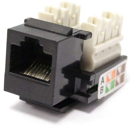 BeMatik - Keystone RJ45 female to TB110 Cat.5e UTP black