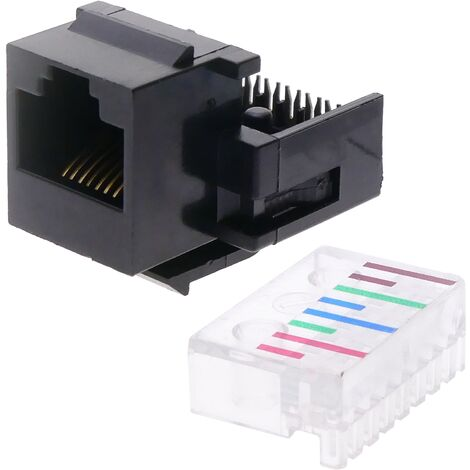 BeMatik - Keystone RJ45 module connector TB110 Cat.5e UTP without tools (8 units)