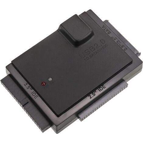 BeMatik - Kit de conexión SATA IDE-HDD a USB 2.0 con fuente de alimentación