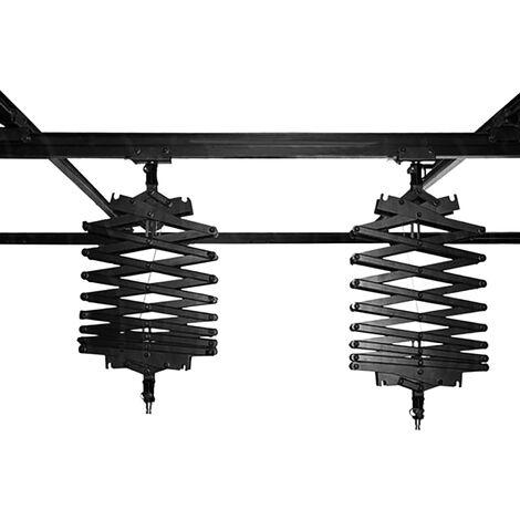 BeMatik - Kit de rail de techo para iluminación de estudio con pantógrafos 4x2m