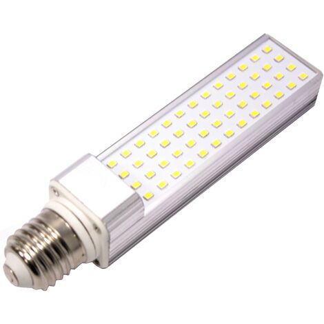 BeMatik - Lámpara de tubo LED PLC E27 85-265VAC 10W bombila de luz de día