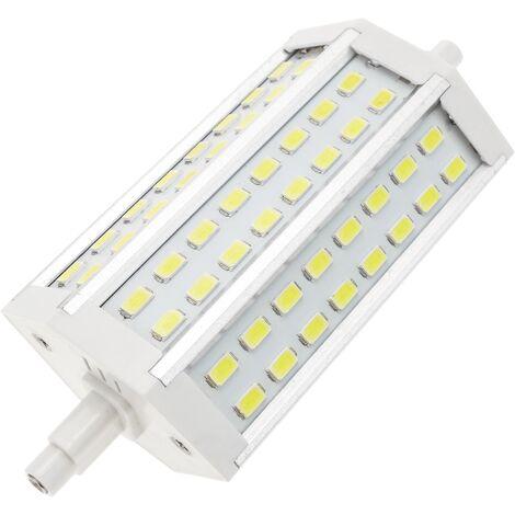 BeMatik - Lámpara tubo LED R7S 85-265VAC 10W 118mm blanco día frío bombilla