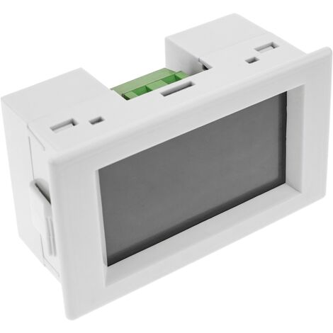 BeMatik - LCD 3-digit display and with 80-500V for panel white