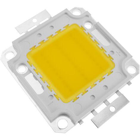 BeMatik - LED COB DIY 30W 2400LM 3000K warm white light transmitter 34 x 34 mm