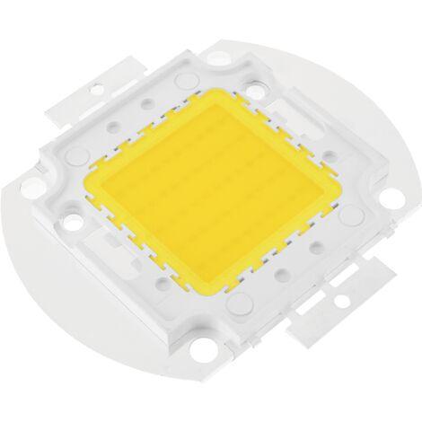 BeMatik - LED COB DIY 50W 4000LM 3000K emisor de luz blanca cálida 56x52mm