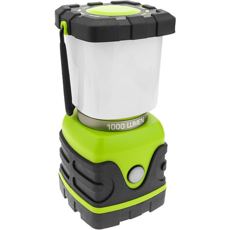 BeMatik - Linterna de camping LED 10W con colgador y PowerBank 4000 mAh