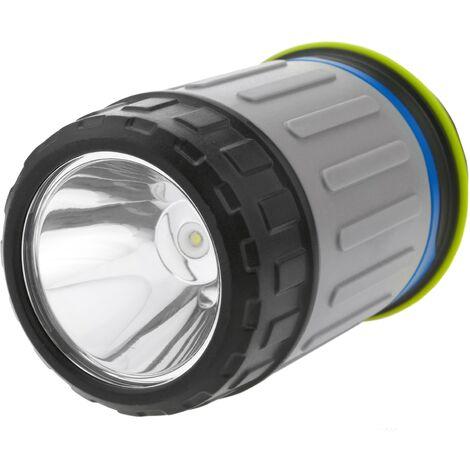BeMatik - Linterna de camping LED 3W con imán y colgador con PowerBank 3200 mAh