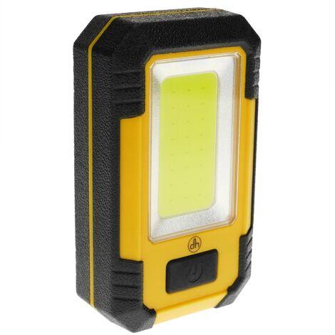 BeMatik - Linterna de camping LED 4W con imán y colgador con PowerBank 4000 mAh
