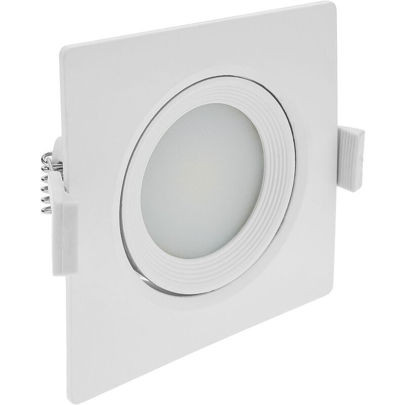 Luce LED 90mm incasso quadrato 7W bianco giorno 6500K - Bematik