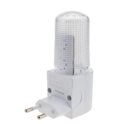 BeMatik - Luce notturna LED con interruttore 1W 230VAC trasparente