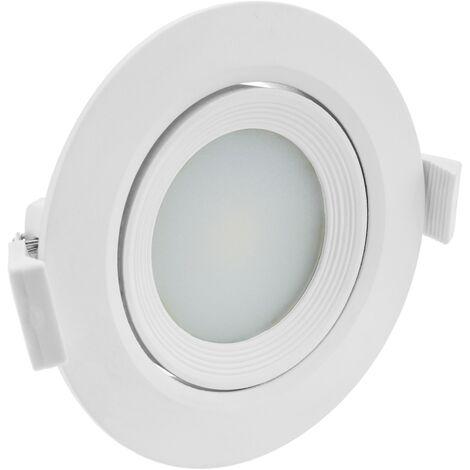 BeMatik - Luz LED 90mm empotrada redonda 7W blanco cálido 3200K