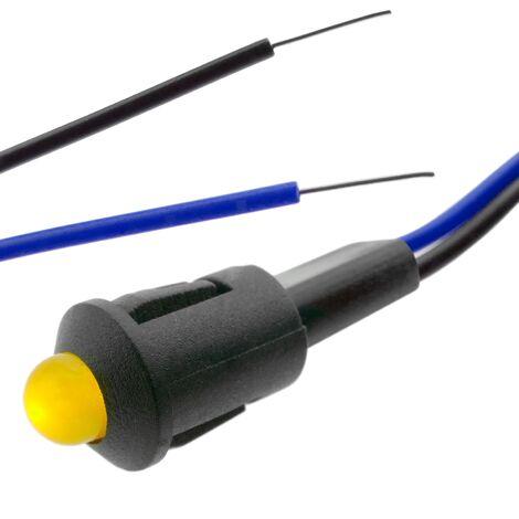 BeMatik - Luz LED piloto de 8mm 220VAC de color amarillo