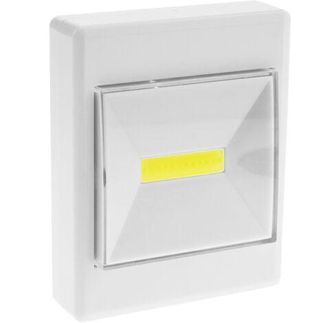 BeMatik - Luz para armario LED COB 3W con interruptor