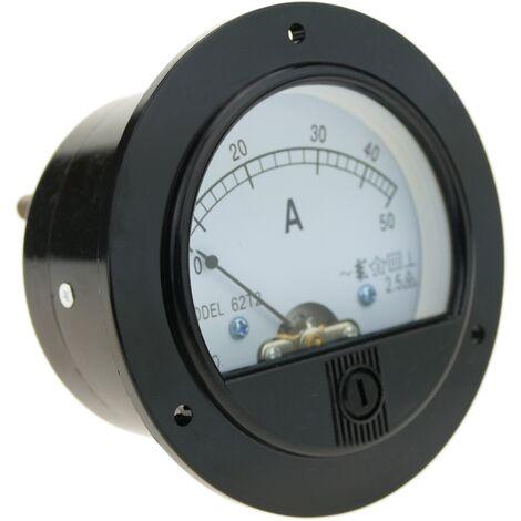"main image of ""BeMatik - Medidor eléctrico analógico de panel redondo 70mm 50A amperímetro"""